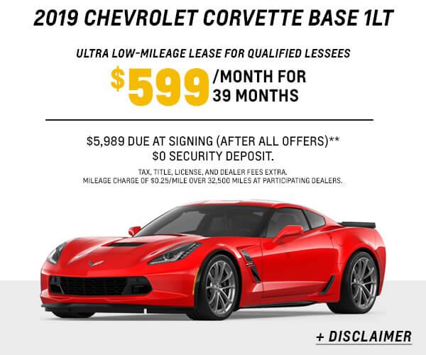 2019 Corvette Lease