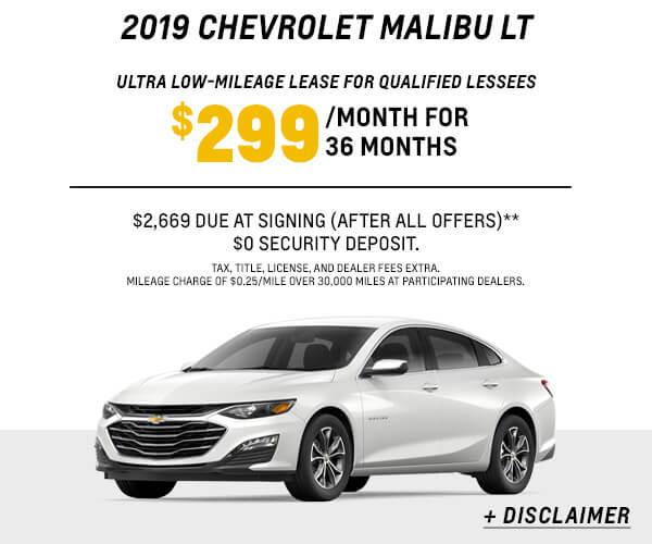 2019 Malibu Lease