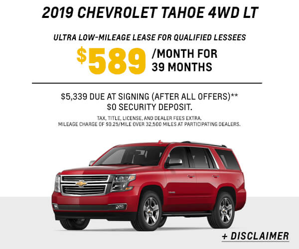 2019 Tahoe Lease