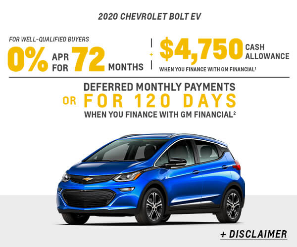 Bolt EV Cash Allowance