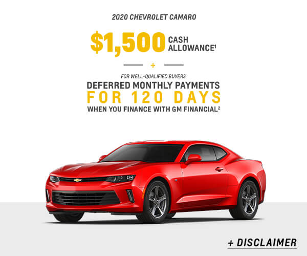 Camaro Cash Allowance