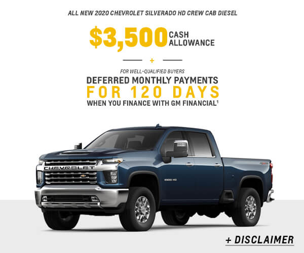 Silverado 2500HD Cash Allowance