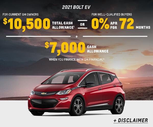 Bolt EV Cash Allowance