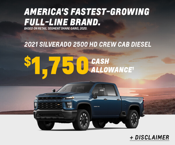 Silverado 2500HD Cash Allowance