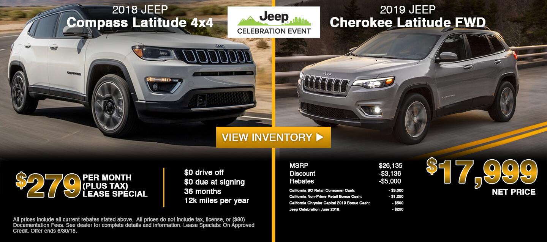 2019 Jeep Cherokee 2018 Jeep Compass