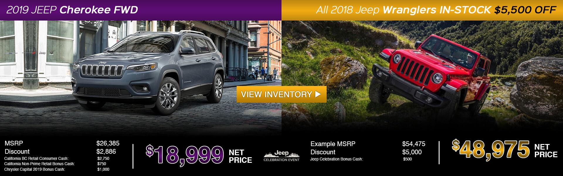 2019 Jeep Cherokee/2018 Jeep Wrangler