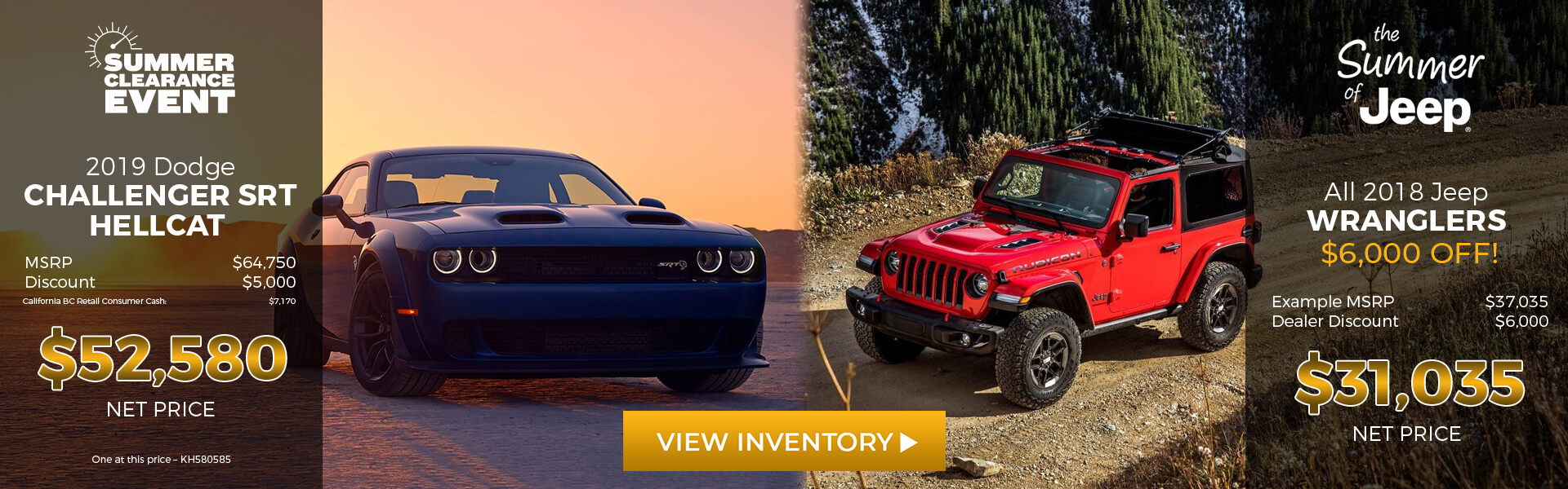 2019 Dodge Challenger/2018 Jeep Wrangler