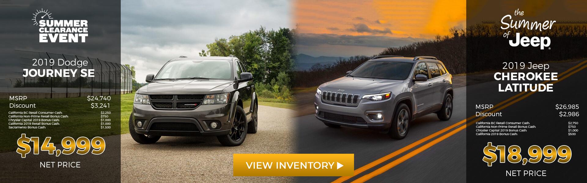 2019 Dodge Journey/2019 Jeep Cherokee