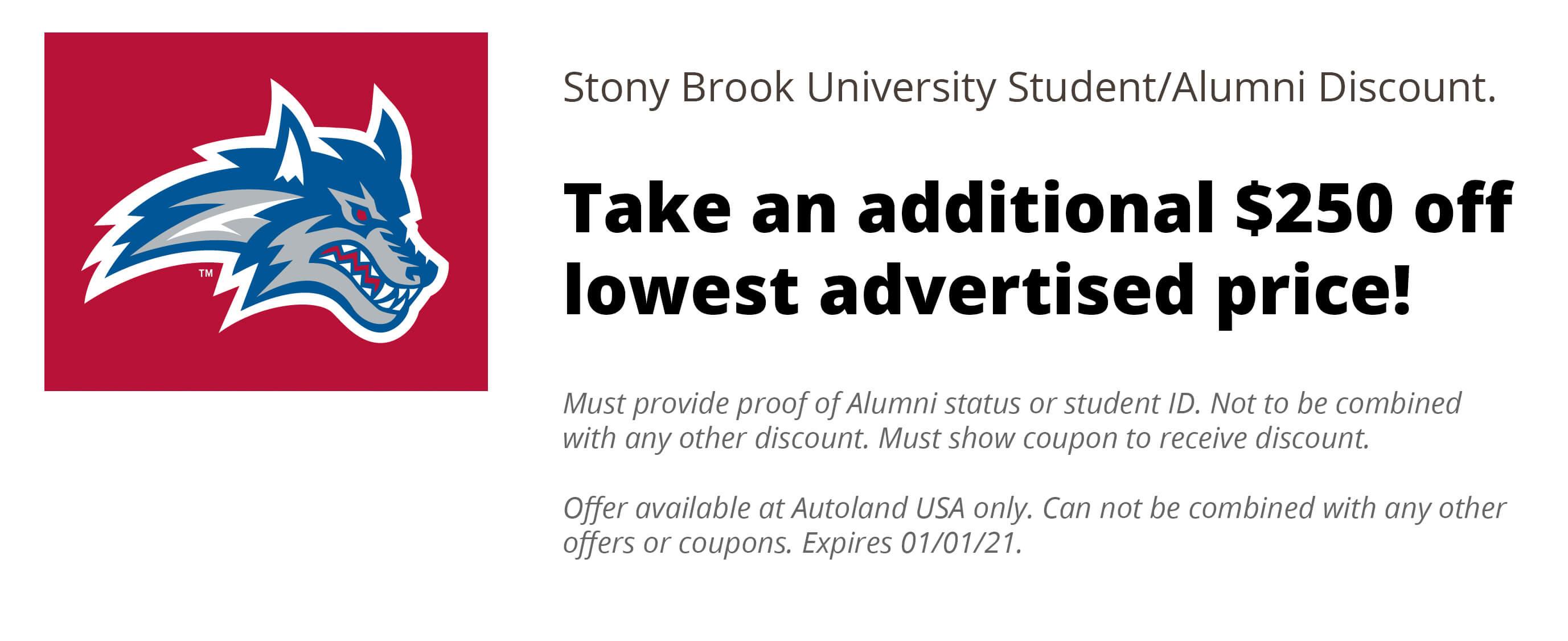 Stoney Brook Discount