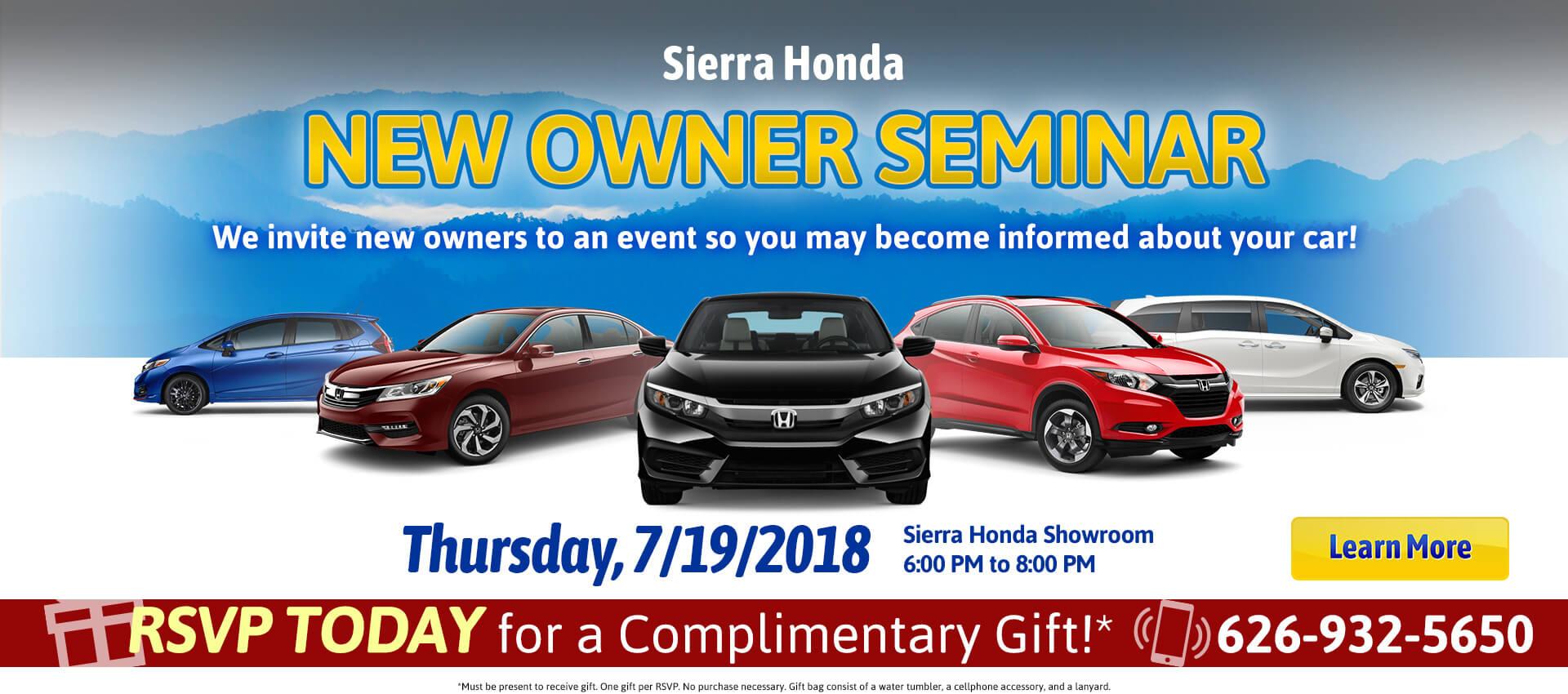 New Owner Seminar