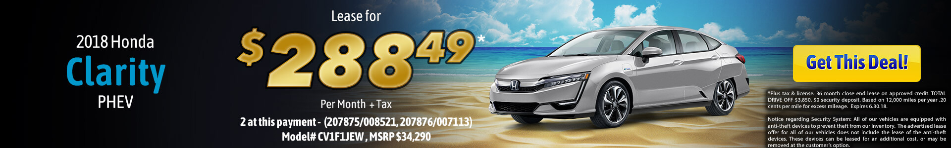 Clarity Lease $288.49