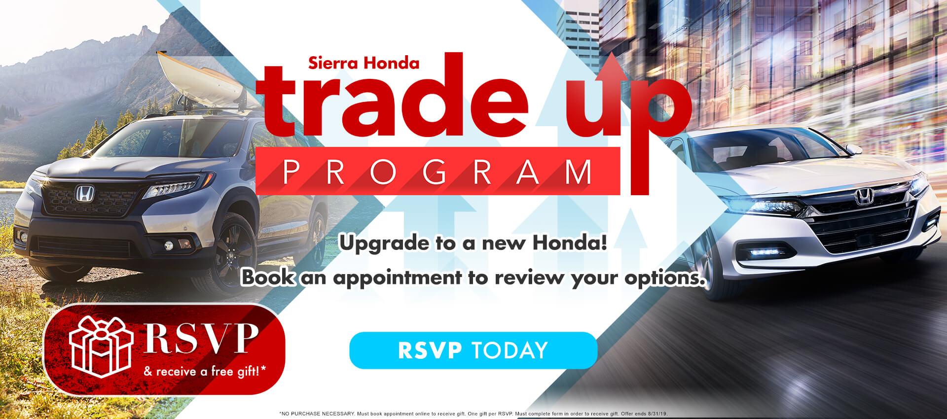 Sierra Honda Trade Up Event