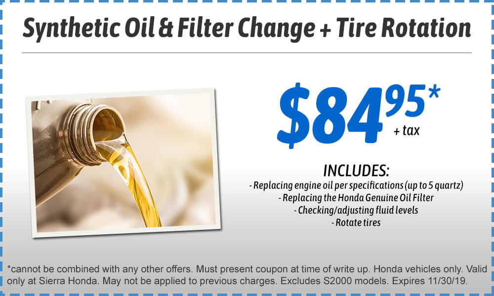 Synthetic Oil & Filter Change Plus Tire Rotation