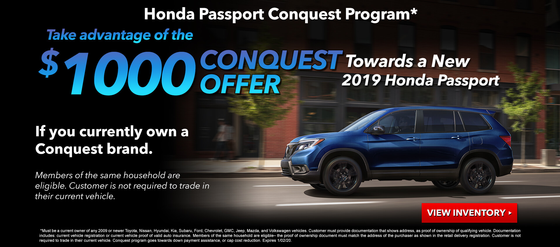 Honda Passport Conquest Program