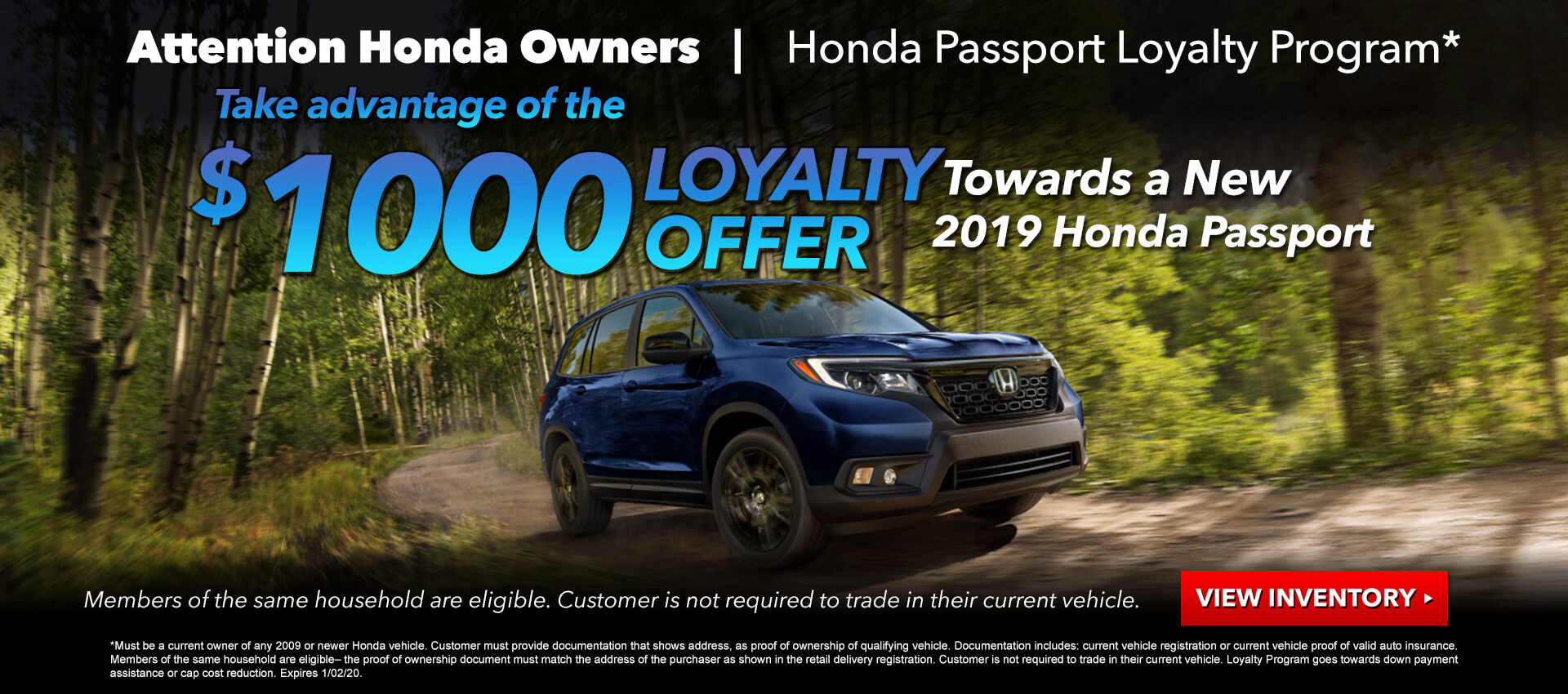 Honda Passport Loyalty Program