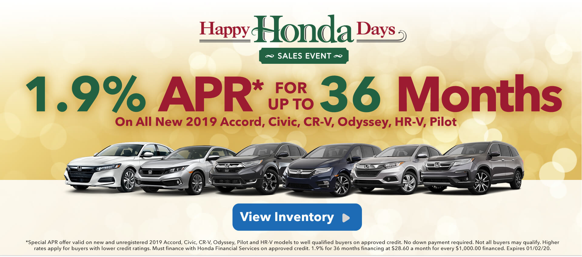 1.9% APR Accord