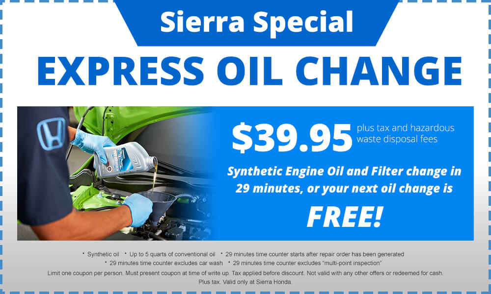 Sierra Special Oil Change