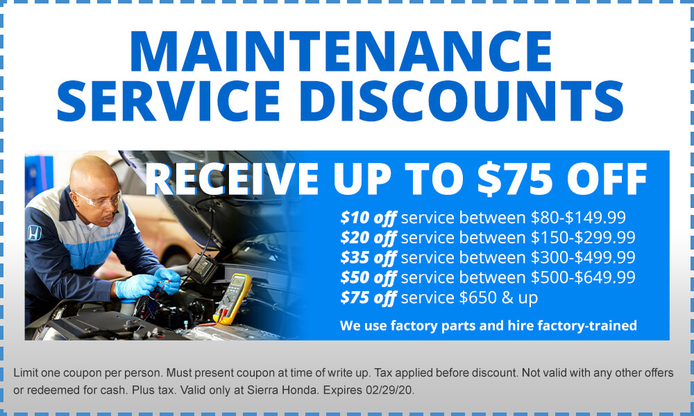 Maintenance Service Discount