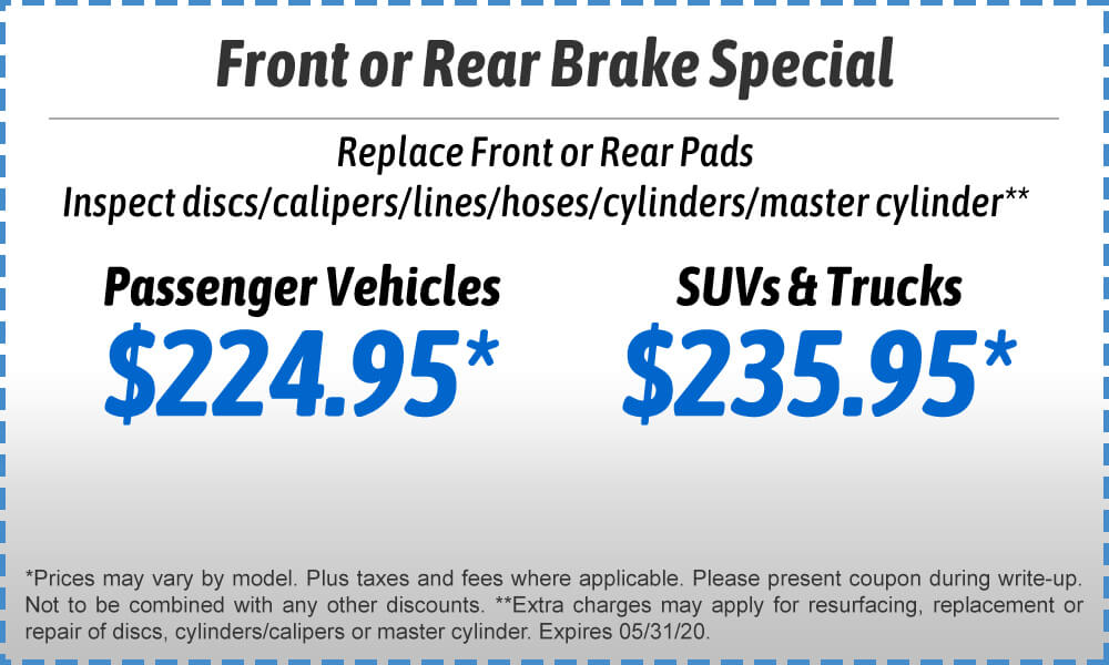 Front & Rear Brake Special