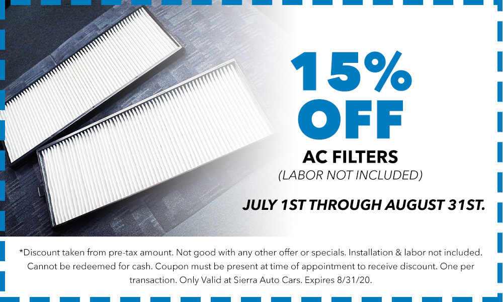 15% Off AC Filters