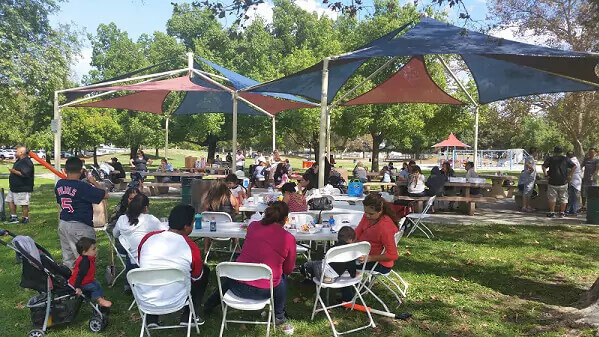 Jim Ross, Employees And Their Families At A Picnic