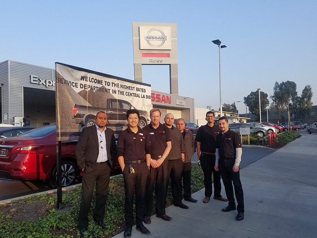 Ross Nissan's Service Department was #1 in the Central LA District for October 2018