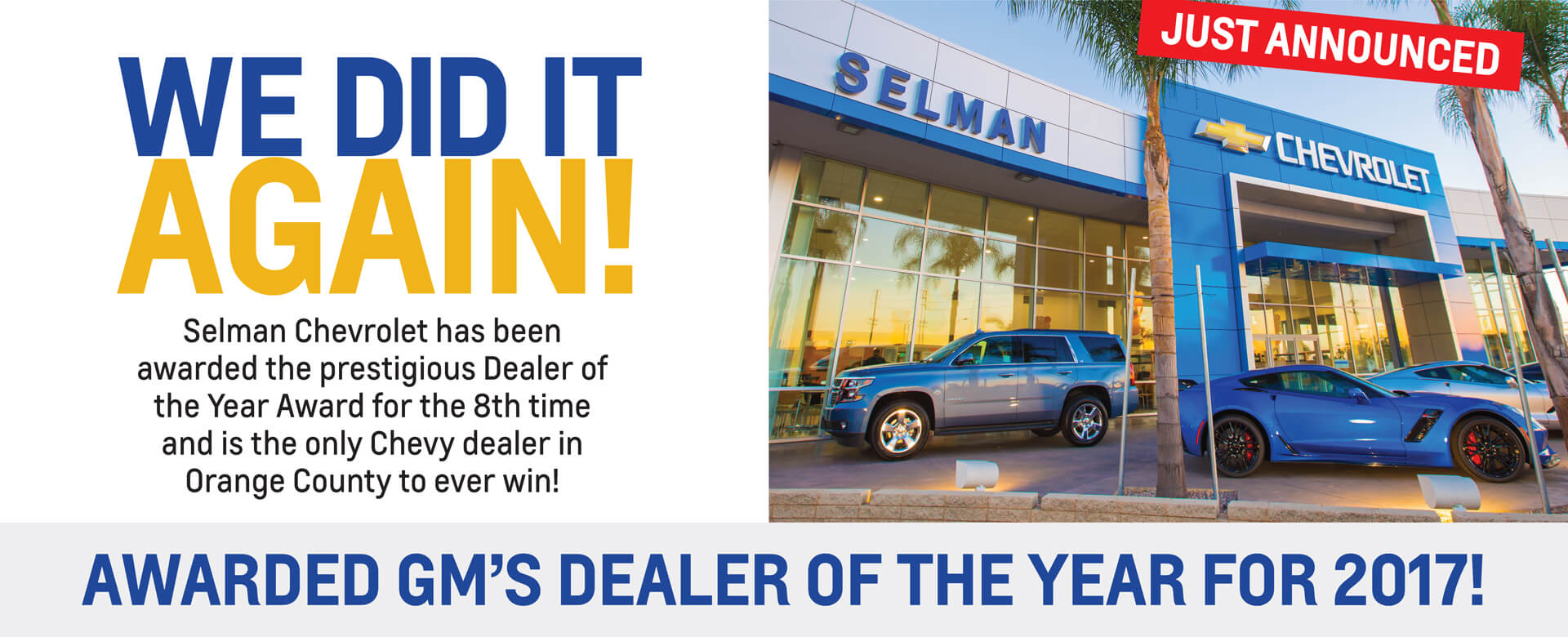 Dealer of the Year Banner