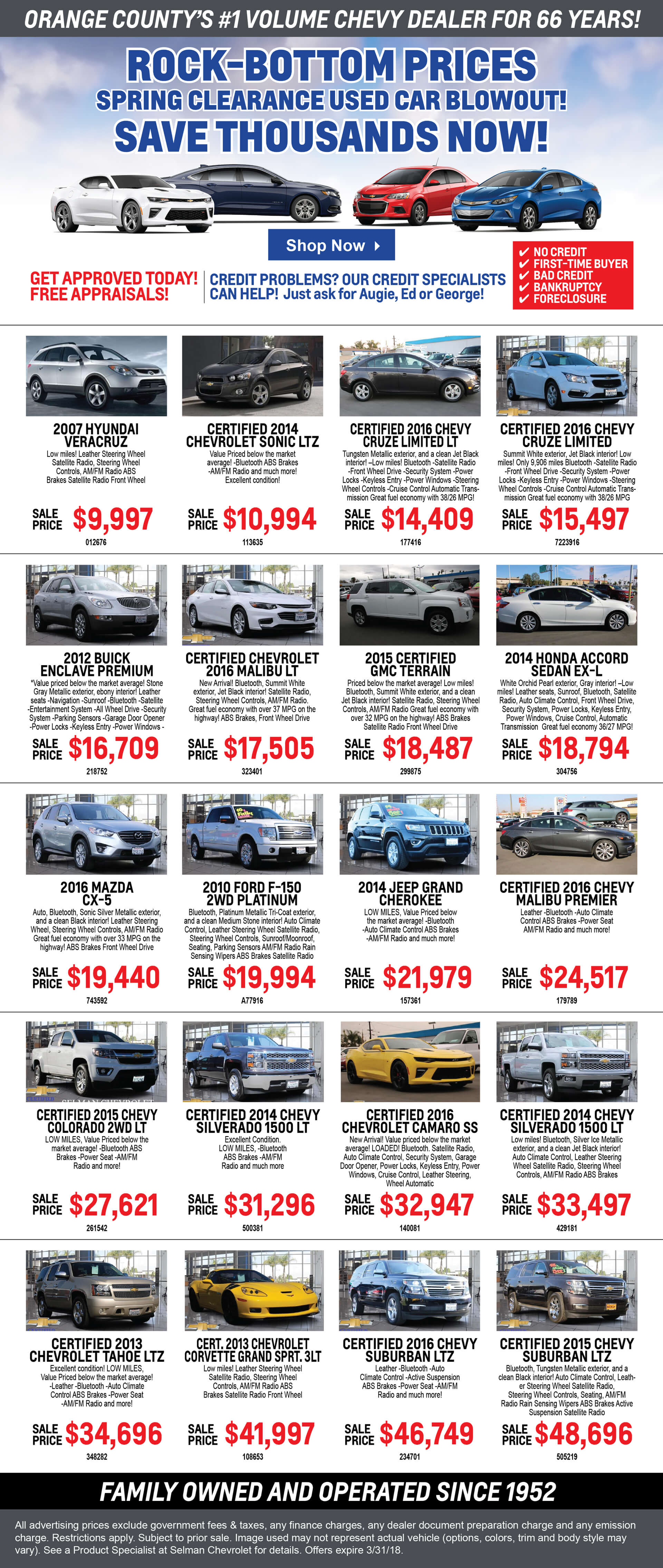 Preowned Specials Promo