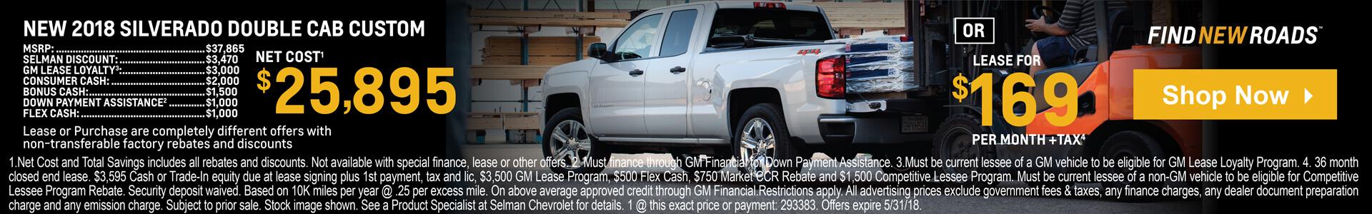 Silverado Double Cab $25,895