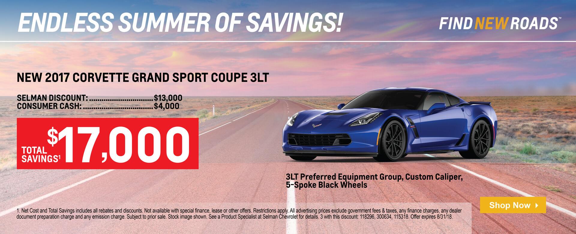 2017 Corvette Grand Sport $15000 savings