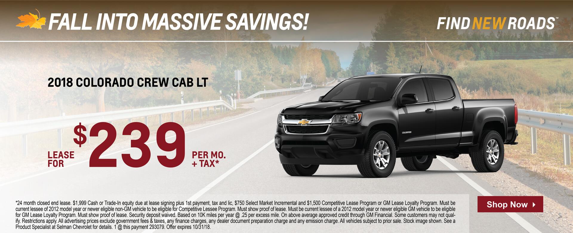 Colorado Extended Cab $199