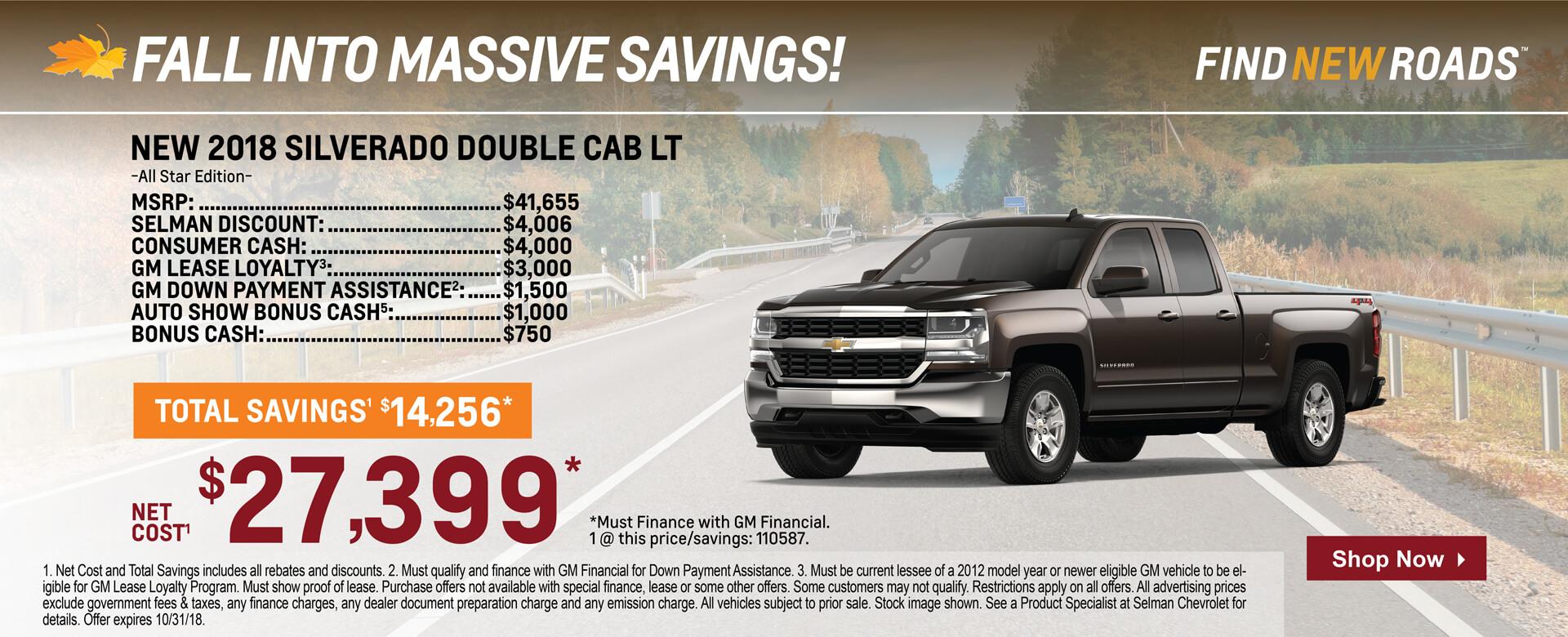 Silverado Double Cab $23,799