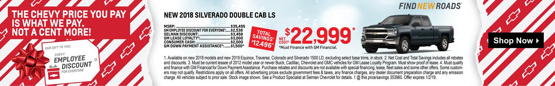 2018 Silverado Double Cab