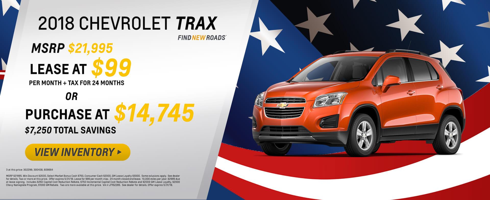 2018 Chevy Trax $99