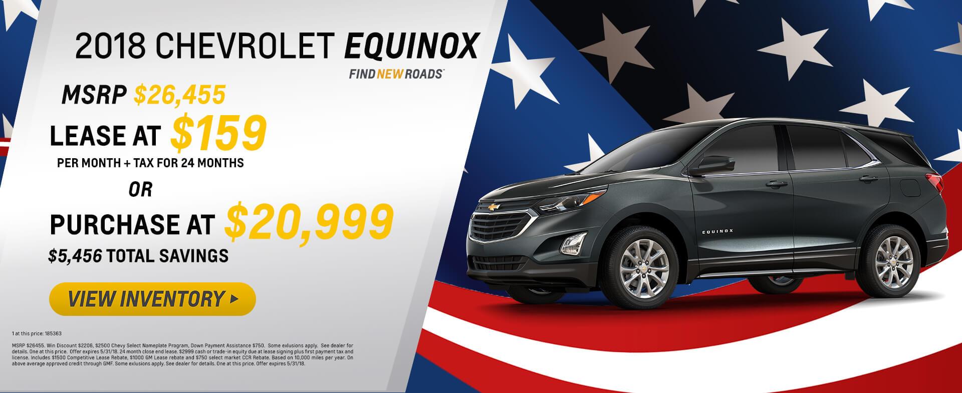 2018 Equinox $5000 off