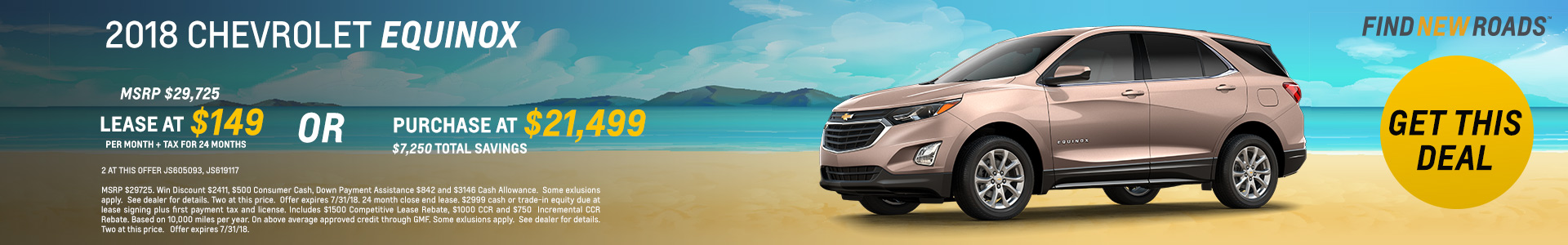 2018 Chevy Equinox $21499