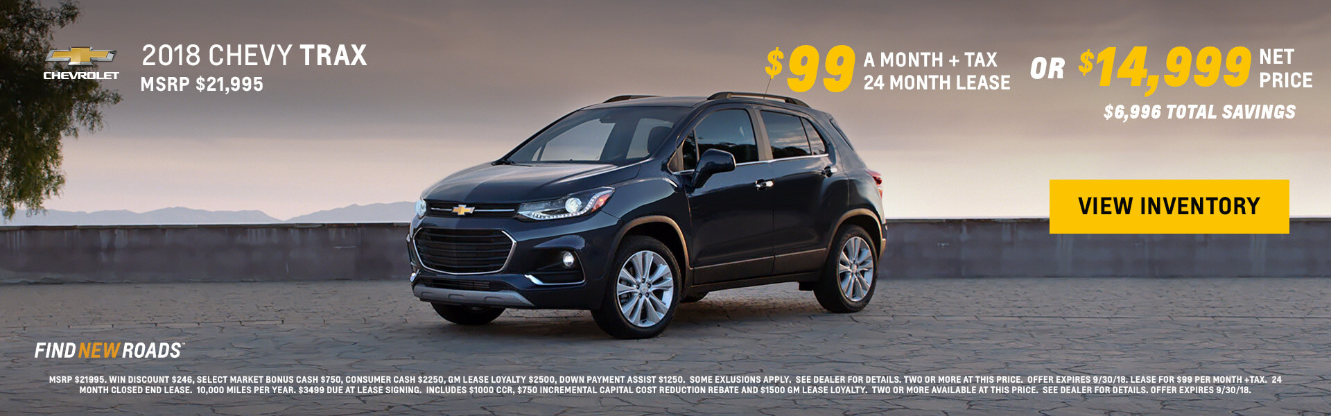 2018 Chevy Trax $15999