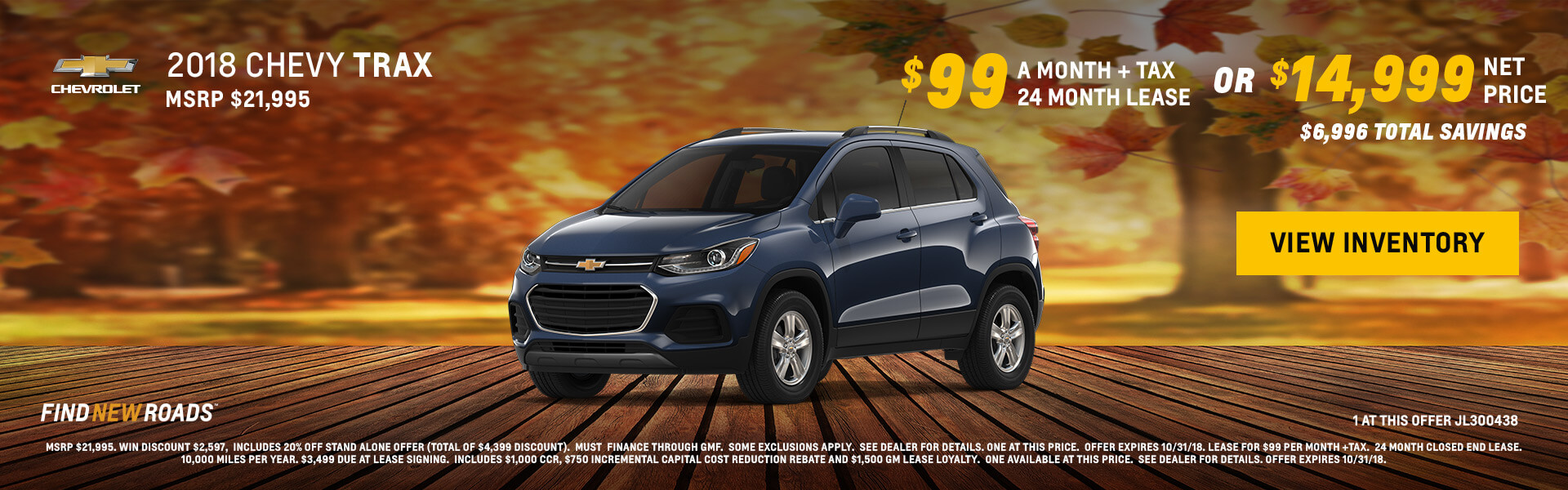 Captivating 2018 Chevy Trax $14999