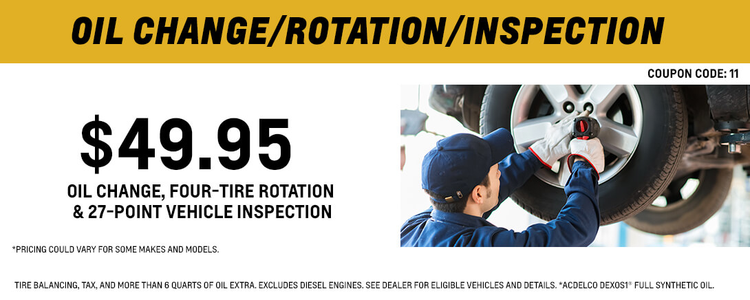 Oil Change/Rotation/Inspection