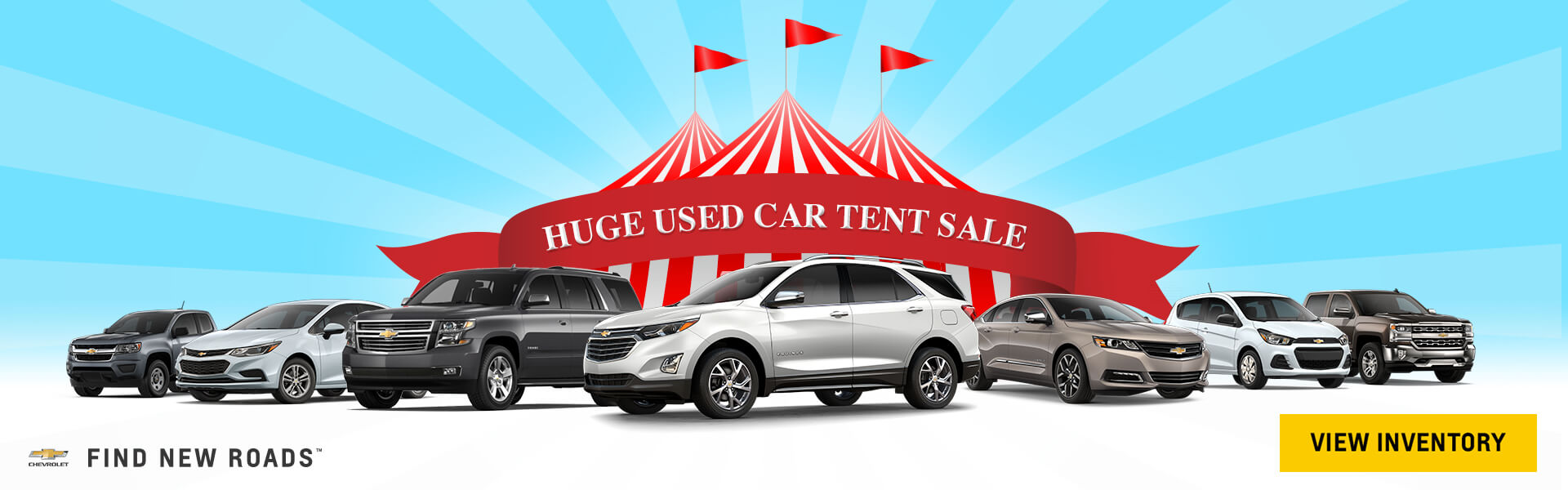 Huge Used Car Tent Sale