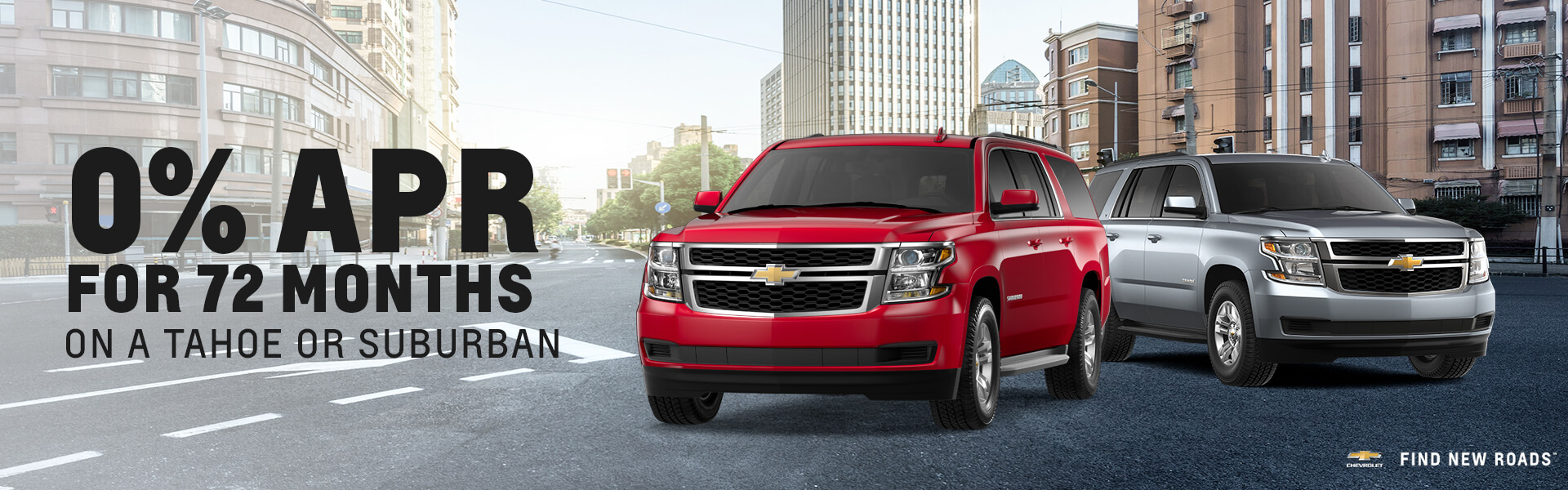 72% APR on Tahoe or Suburban