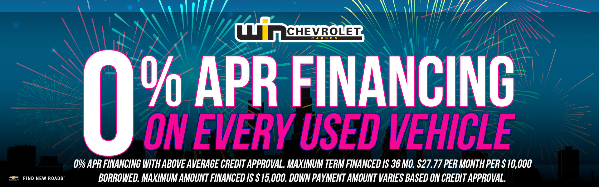 Used 0% APR Financing