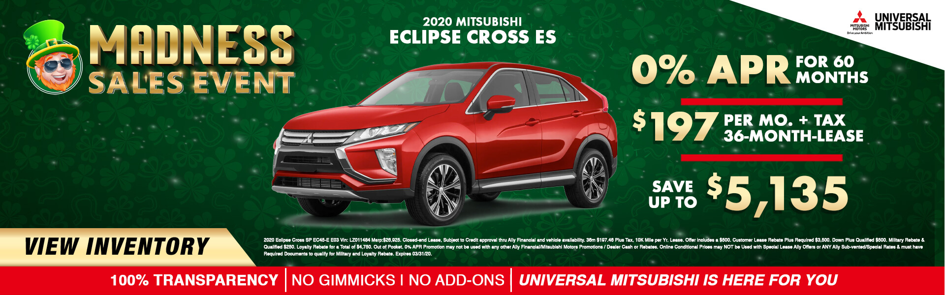 2019 Mitsubishi Eclipse Cross 0% APR