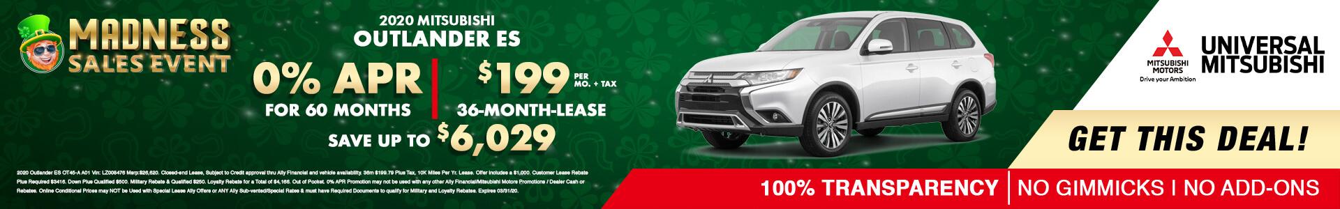 Mitsubishi Outlander ES FWD $17745