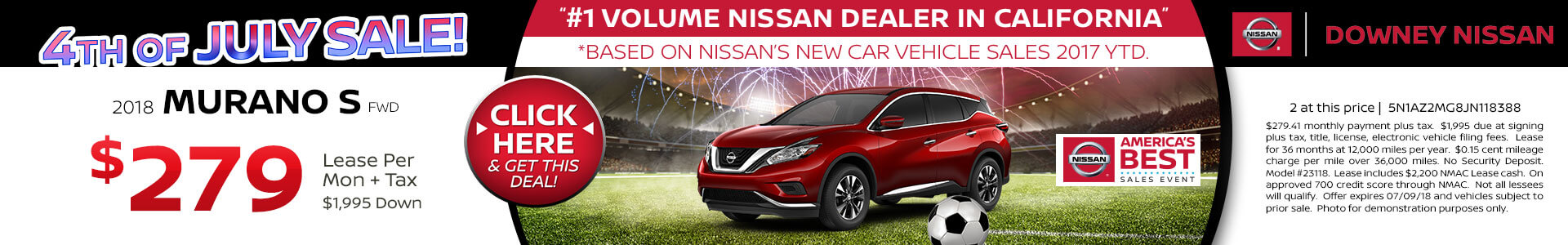 Murano Lease for $279