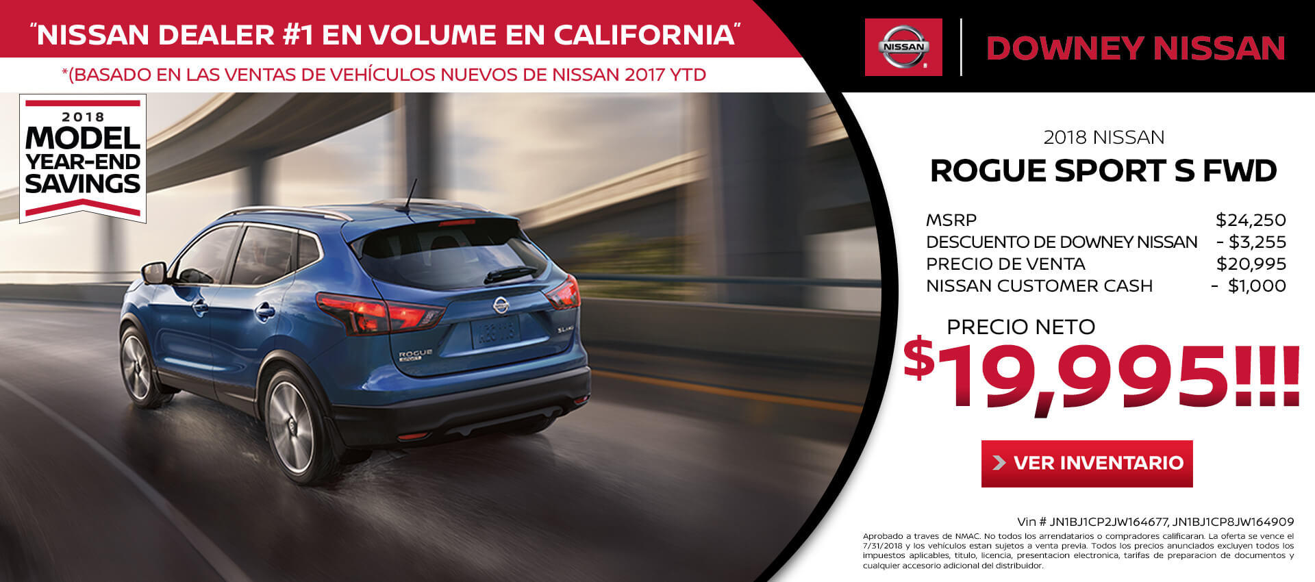 Rogue Sport - Purchase for $19,995