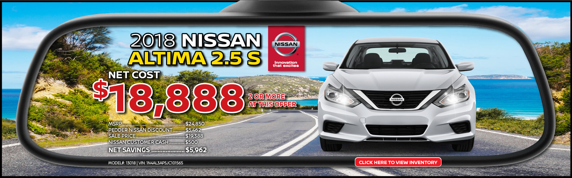Nissan Altima $18,888 Purchase