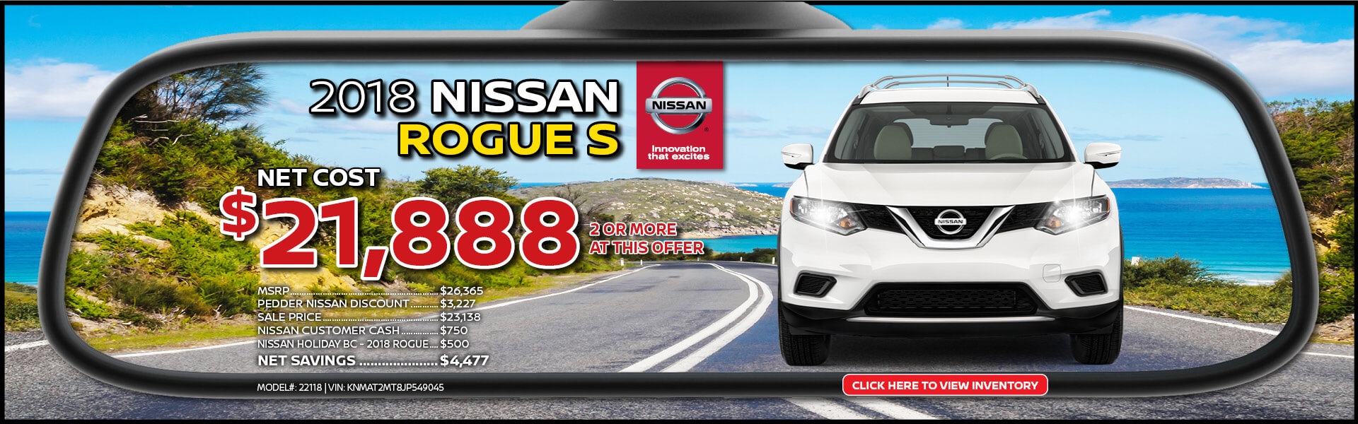 Nissan Rogue $21,888 Purchase