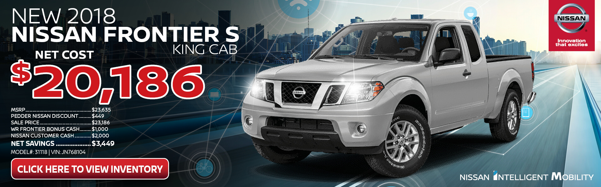 Nissan Frontier Purchase $20,186
