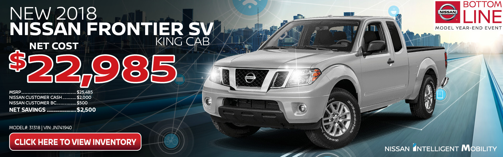 Nissan Frontier Purchase $22,985